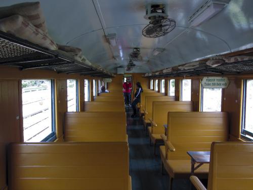 1b. Interior of train carriage used to Namtok