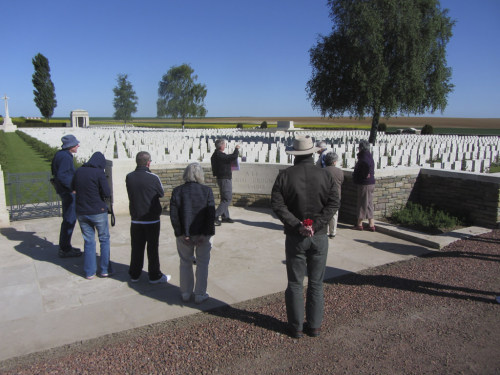 War Cemetery visit and commentary
